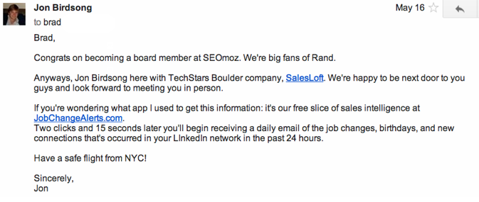 How to Close a Top VC (Brad Feld) in One Email 2