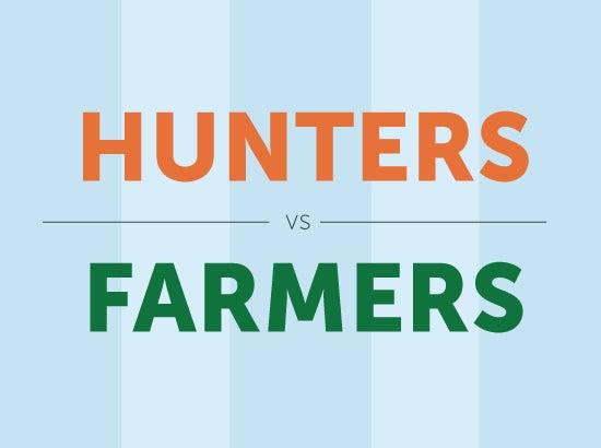 Sales Personas: Hunters vs Farmers {Infographic} - SalesLoft