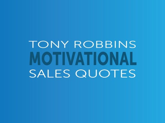 tony robbins motivational sales quotes slide deck