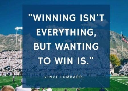 Vince Lombardi on winning