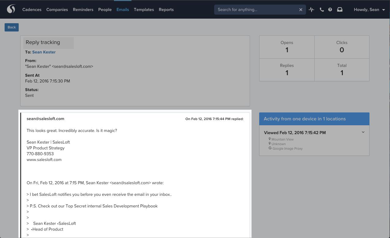 SalesLoft Product Release: Replies In The Activity Feed - SalesLoft