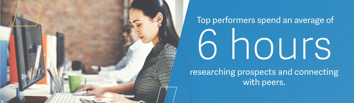 Studies show that top performers spend on average 6 hours a week researching prospects and connecting with peers. This post include 6 ways to research leads.