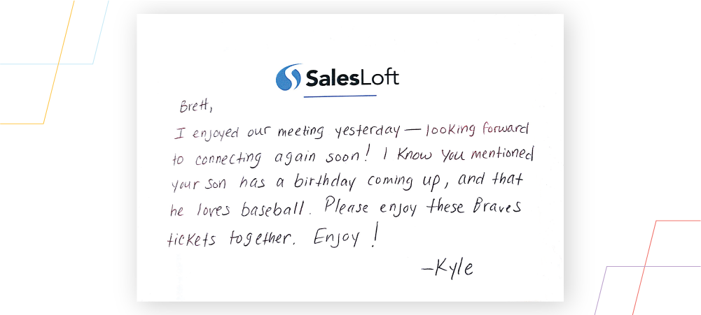 Example of a personalized letter for sales reps