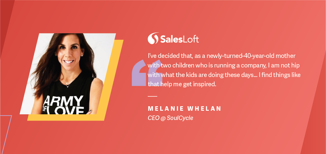 Melanie Whelan, SoulCycle CEO, on mentoring