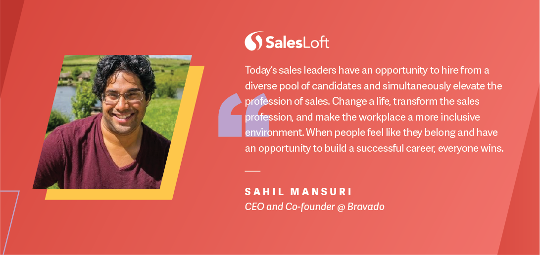 Sahil Mansuri, CEO and Co-founder of Bravado, on sales mentoring and diversity