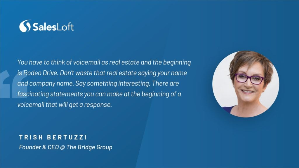 Trish Bertuzzi on being a woman in sales