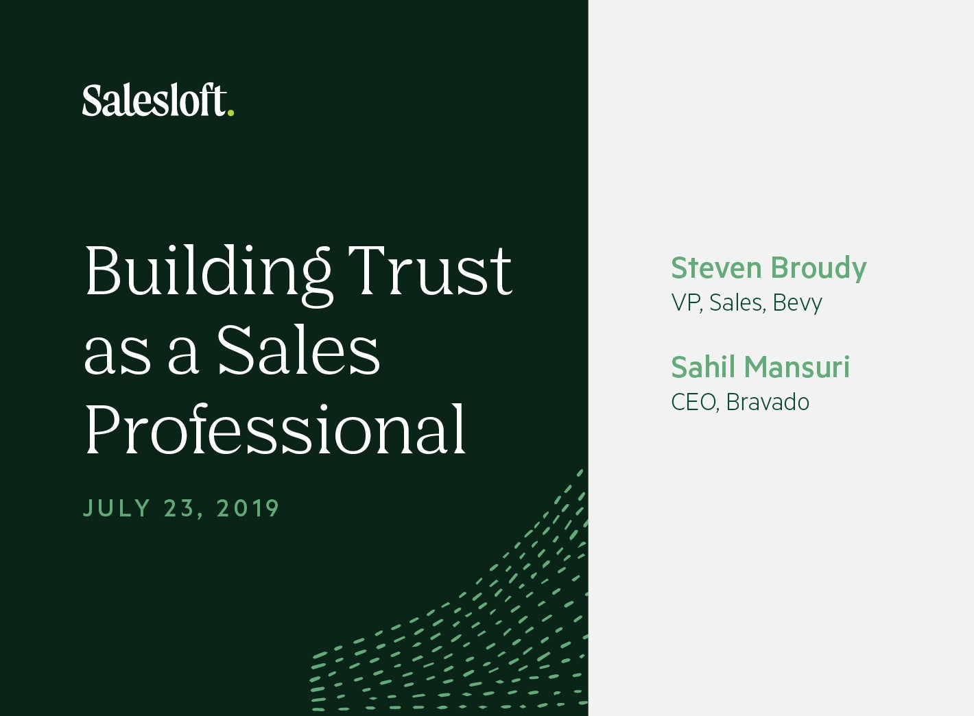 Building Trust as a Sales Professional