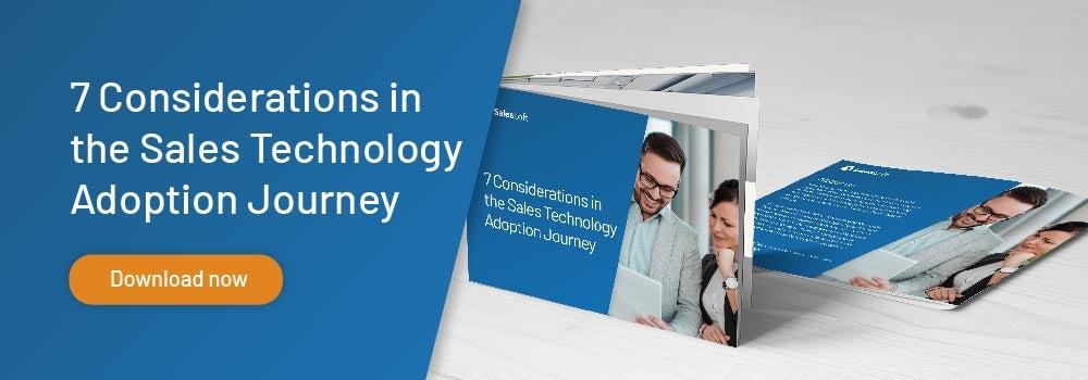 sales tech adoption journey