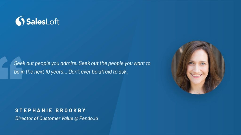 Stephanie Brookby, Director of Customer Value at Pendo.