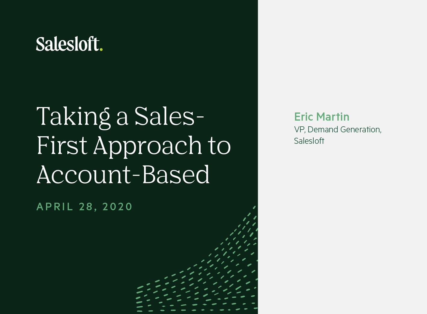 Taking a Sales-First Approach to Account-Based