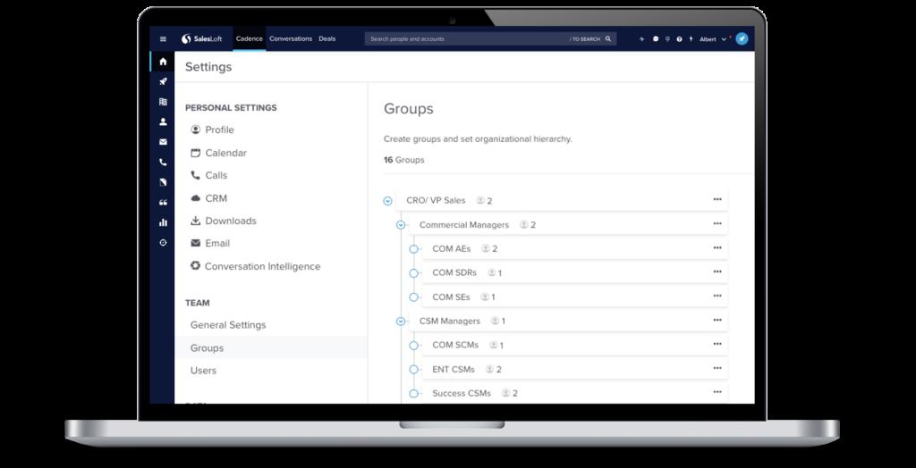 Group Hierarchies SalesLoft