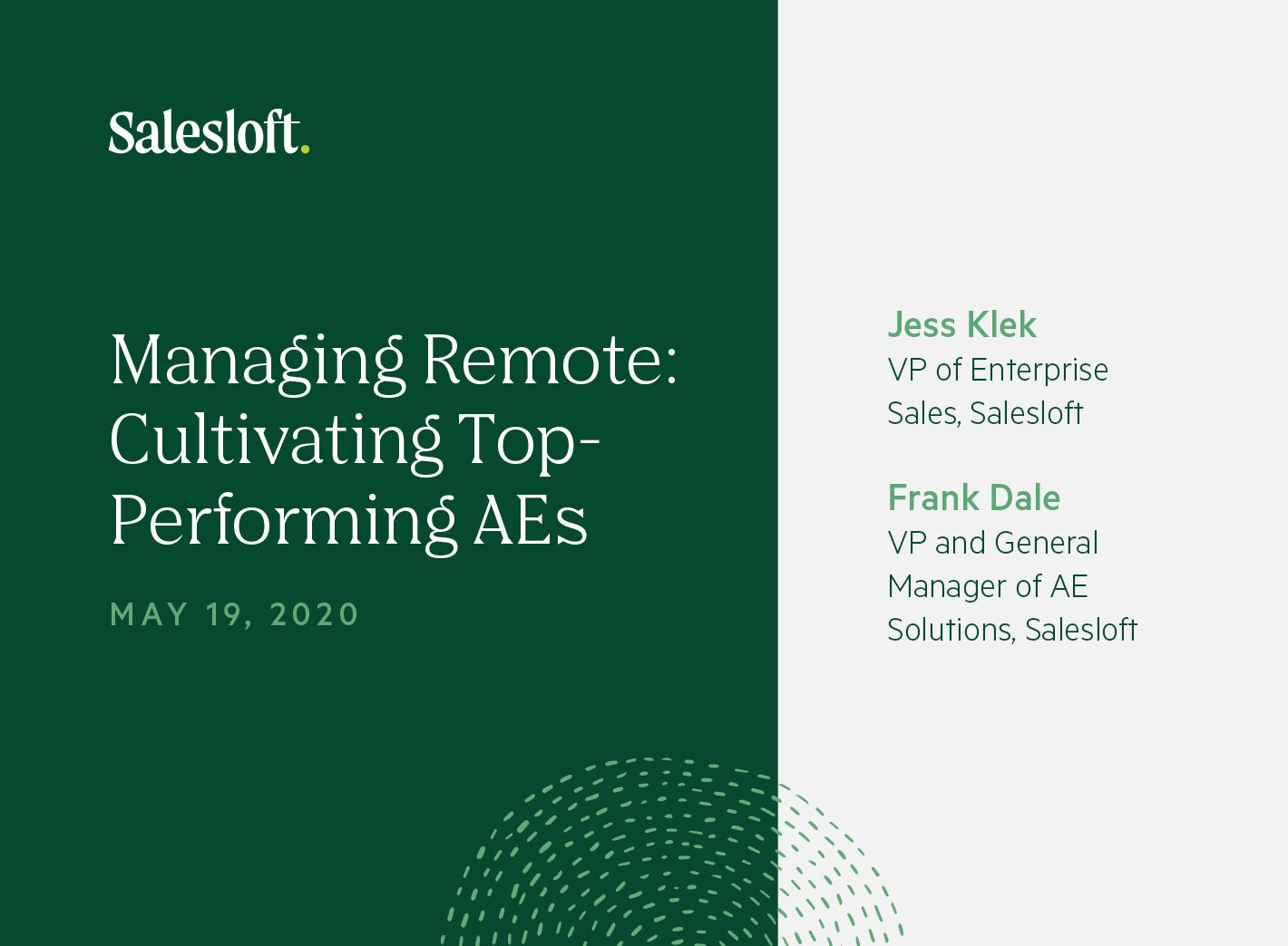 Managing Remote: Cultivating Top-Performing AEs