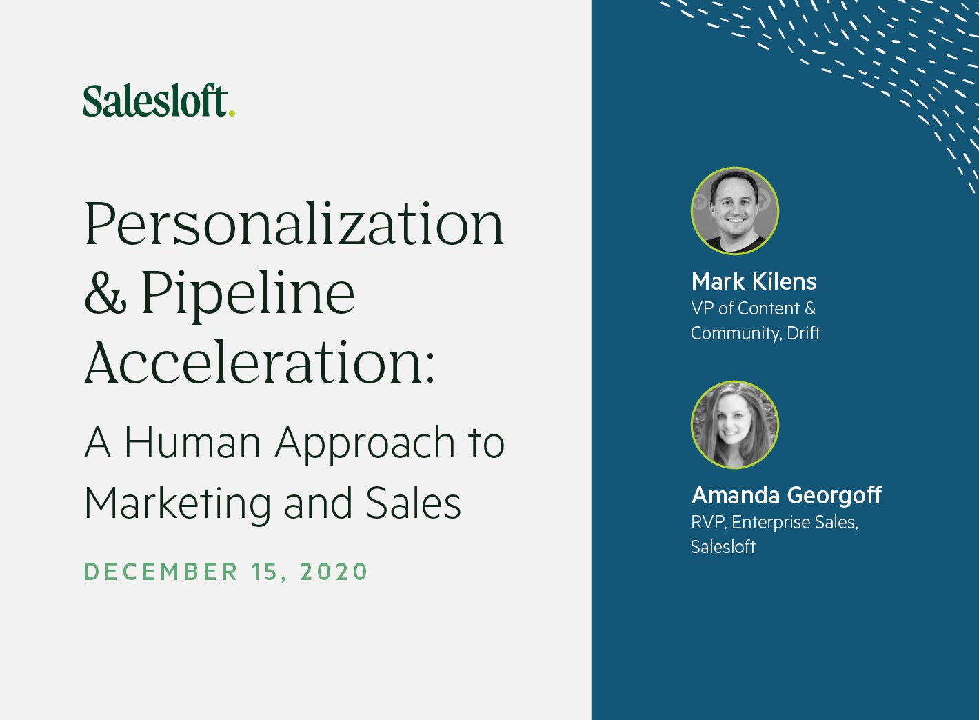 Personalization & Pipeline Acceleration: A Human Approach to Marketing and Sales