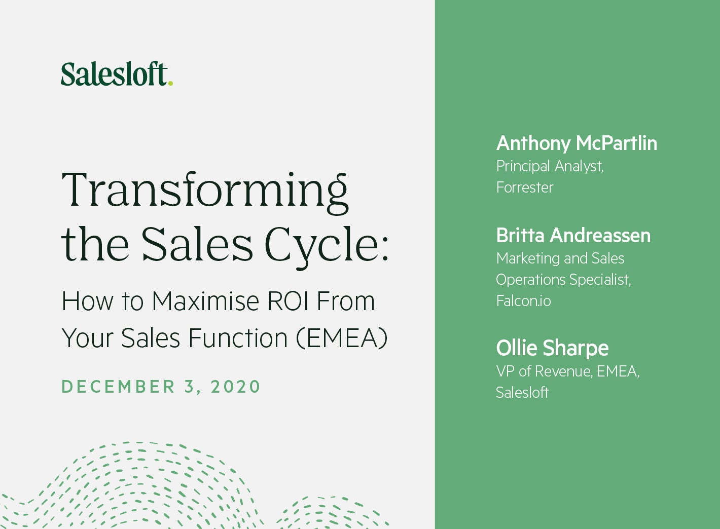 Transforming the Sales Cycle: How to Maximise ROI From Your Sales Function (EMEA)