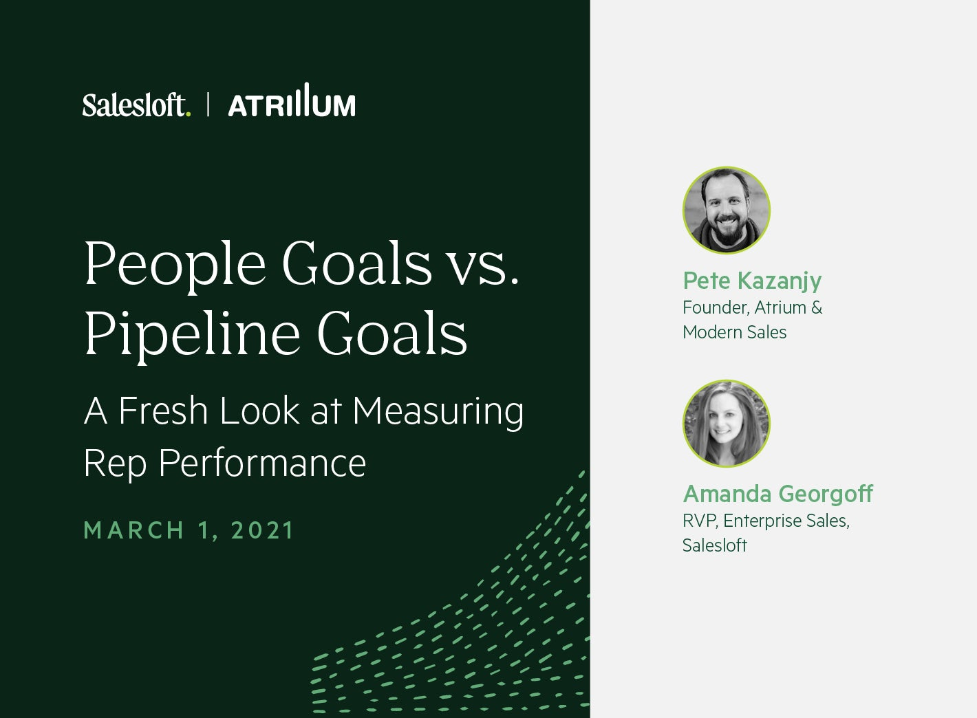 People Goals vs. Pipeline Goals: A Fresh Look at Measuring Rep Performance