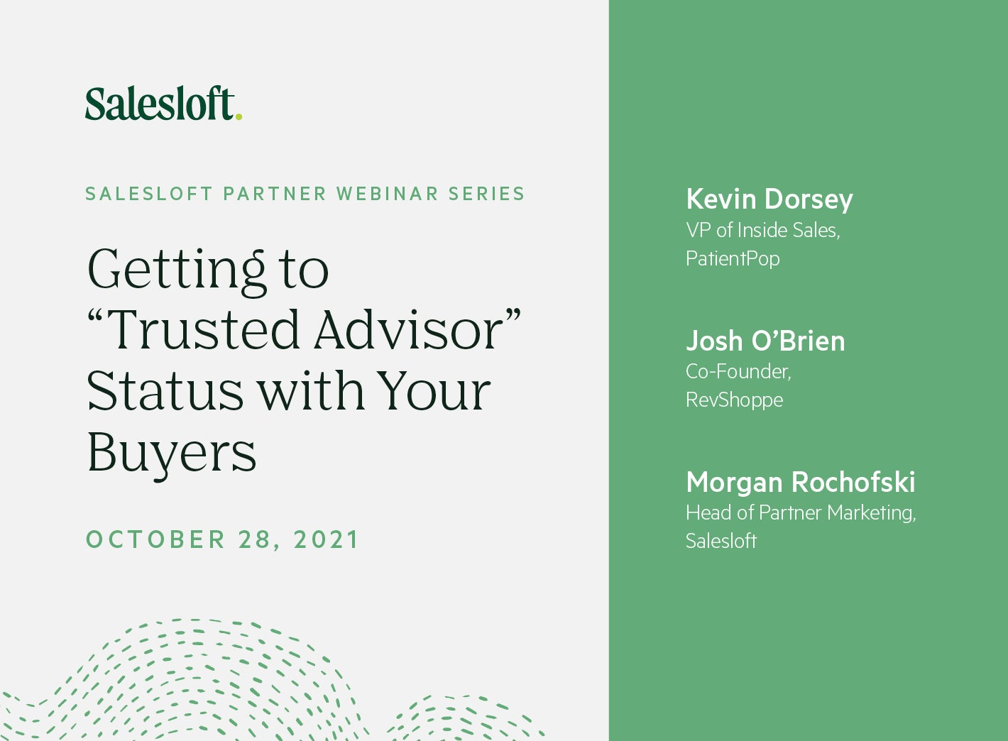 """Getting to """"Trusted Advisor"""" Status with Your Buyers"""